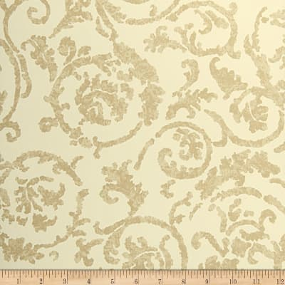Fabricut Corbett Nonwoven Wallpaper Beige (Double Roll)