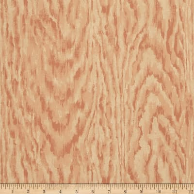 Charles Faudree Faux Bois Wallpaper Rose (Double Roll)
