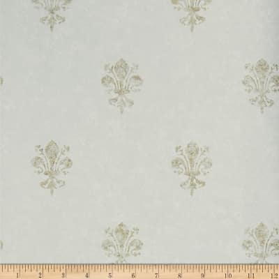 Charles Faudree Fleur De Lys Wallpaper Oasis (Double Roll)