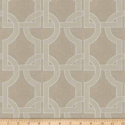 Fabricut Gaffer Lattice Linen Blend Alloy