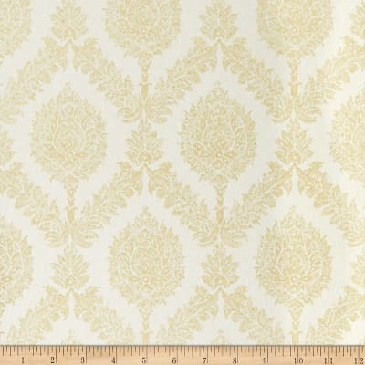 Fabricut Giles Wallpaper Ivory & Gold (Double Roll)