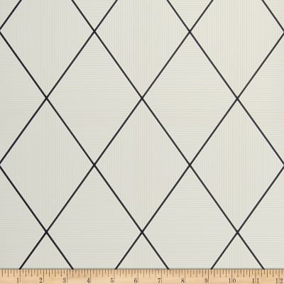 Fabricut Hackett Wallpaper Ivory & Black (Double Roll)