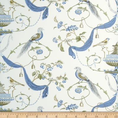 Fabricut Hinson Wallpaper Blue (Double Roll)
