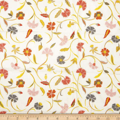 Collier Campbell Jacobean Jangle Linen White And Bright