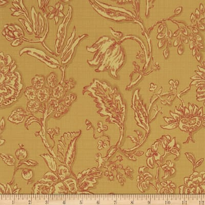 Charles Faudree Mondeville Wallpaper Red (Double Roll)