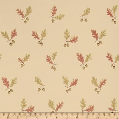 Charles Faudree Oak & Acorn Wallpaper Redoak (Double Roll)