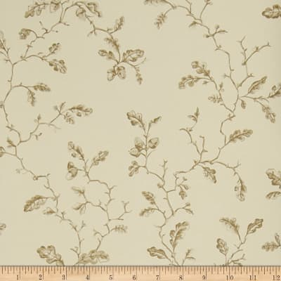 Charles Faudree Trailing Acorns Wallpaper Truffle (Double Roll)