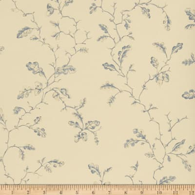 Charles Faudree Trailing Acorns Wallpaper Slate (Double Roll)
