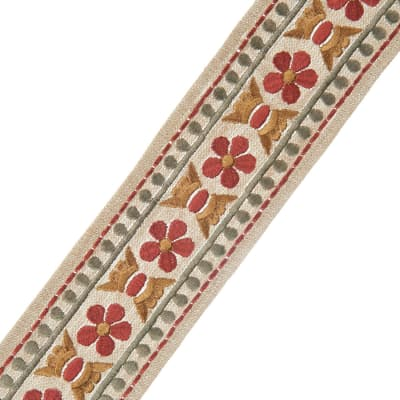 """French General 2.75"""" Trianon Trim Rouge"""