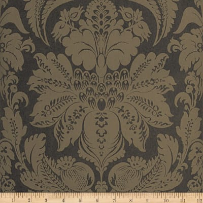 Fabricut Wethers Nonwoven Wallpaper Charcoal (Double Roll)