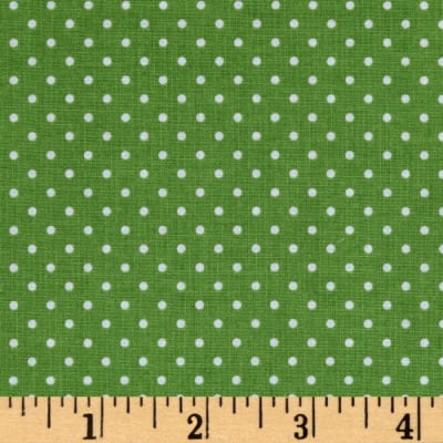 Riley Blake Butterflies & Berries Swiss Dot Green