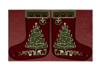 "Holiday Joy Jacquard Easy Sew Stocking Panel Christmas Tree 27"" X 18.8"""