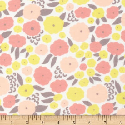 Cloud 9 Organic Flannel Field Day Cottonflower Pink