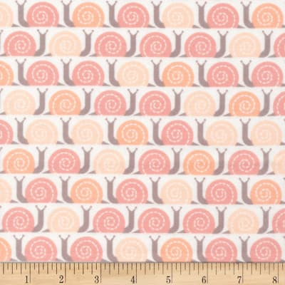 Cloud 9 Organic Flannel Field Day Snail's Pace Pink