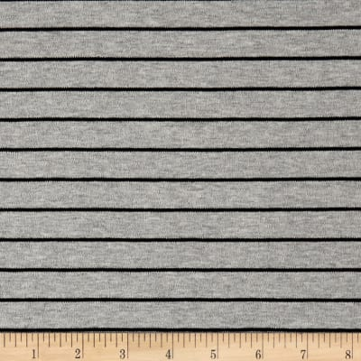 Cloud 9 Organic Interlock Knit Stripes Heather Gray