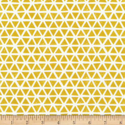 Cloud 9 Organic Interlock Knit Triangles Citron