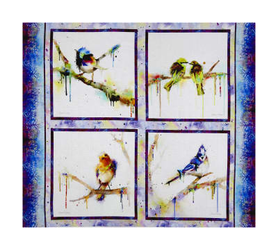 "Color Splash Bird 36"" Panel Multi"