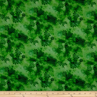 Good Dogs Tonal Floral Green