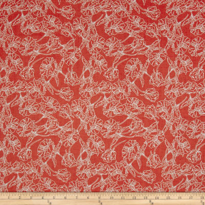 Marbella Floral Outline Red