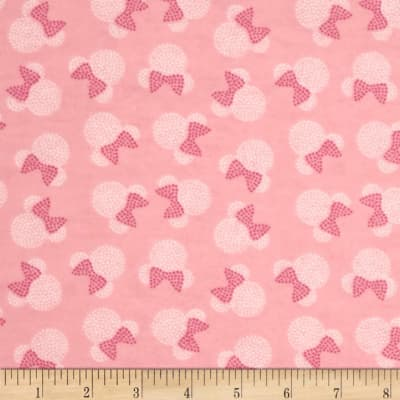 Disney Minnie Mouse Flannel Toss Pink (Bolt, 10 Yard)