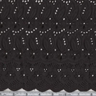 Roll Fancy Eyelet Jet Black (Roll, 15 Yard)