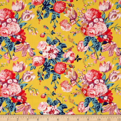 Liberty Fabrics Tana Lawn Magical Bouquet Yellow Multi