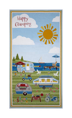 "Wilmington Let's Go Glamping 23"" Panel Multi"