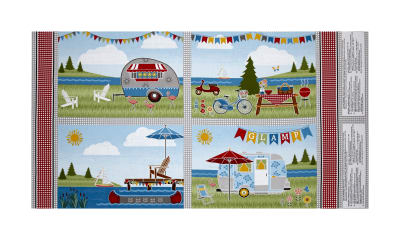 """Wilmington Let's Go Glamping Placemat 24"""" Panel Multi"""