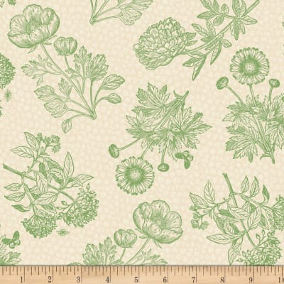 Wilmington Flower Show Toile Ivory