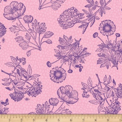 Wilmington Flower Show Toile Pink
