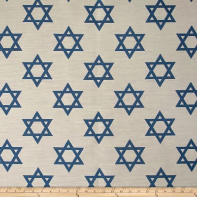 Star of David Jacquard White