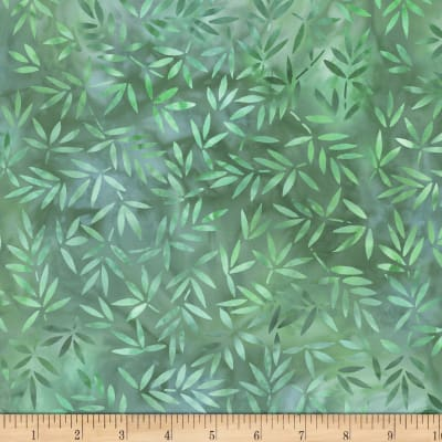 Wilmington Essential 108 Backing Mottled Leaves Green