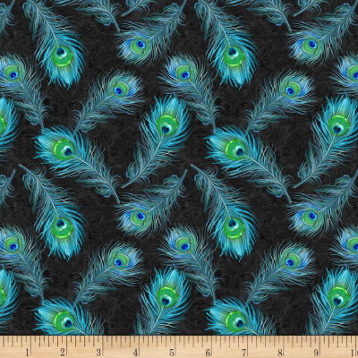 Wilmington Plumage Feathers Allover Blue
