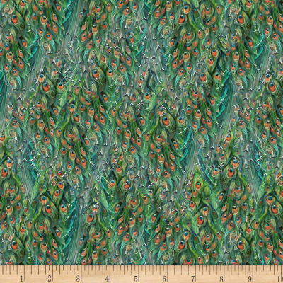 Wilmington Plumage Tail Texture Green