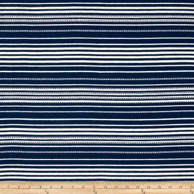 Italian Textured Stripe Jacquard Navy/White