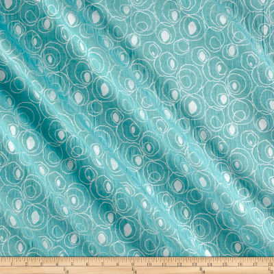 Abstract Metallic Jacquard Aqua