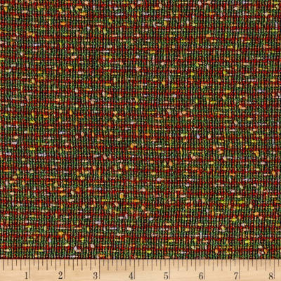 Italian Boucle Woven Green/Orange/Multi