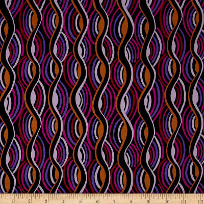 Pucci Stretch Cotton Sateen Curved Line Berry