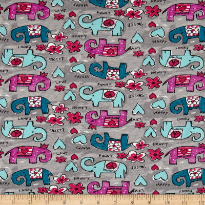 STOF France Grabouilla Stretch Jersey Knit Grey