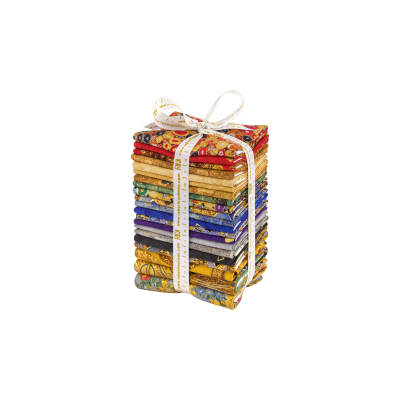 Kaufman Gustav Klimt Fat Quarter Bundle Metallic Gold