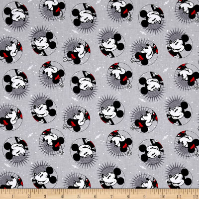 Disney Mickey And Minnie Fashions Smile Mickey Gray
