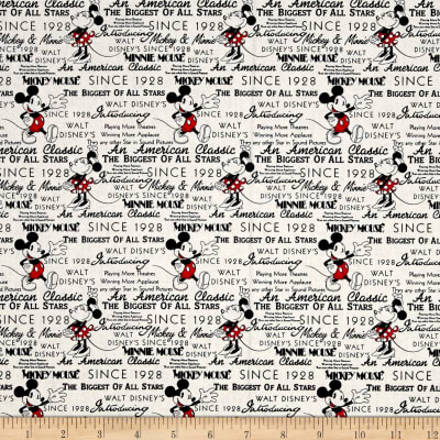 Disney Mickey And Minnie Fashions Mickey With Words White