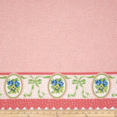 Penny Rose Mae Flowers Border Pink