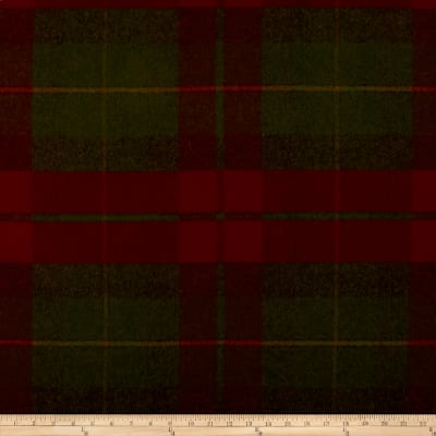Ralph Lauren Coach Road Tartan Wool Crimson