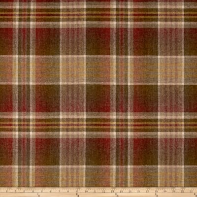 Ralph Lauren Home LCF68182F Donovan Plaid Melton Wool Brick