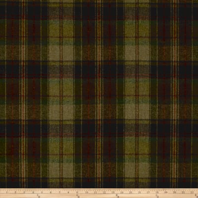 Ralph Lauren Home Eliott Plaid Melton Wool Olive