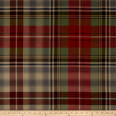 Ralph Lauren Home Glasgow Tartan Wool Twill Sateen Vintage Red