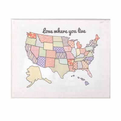 USA Stretched Canvas Embroidery Kit