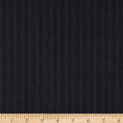 Super 120 100% Wool Twill Suiting Stripe Grey