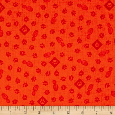 Riley Blake Cub Scouts Paws Orange
